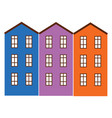 apartment buildings painted in bright colors vector image