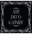 art deco gatsby square vector image vector image