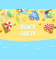 beach party banner template summer party vector image vector image