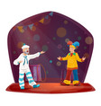 big top circus sailor and jester clowns vector image vector image