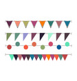 bunting garland flag background birthday carnival vector image vector image