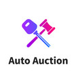 car auction logo design vector image