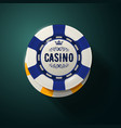 casino chip top view - gambling chips with crown vector image vector image