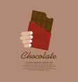 Chocolate Bar In Red Wrap vector image