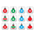 Christmas ball Christmas bauble buttons se vector image