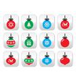 Christmas ball Christmas bauble buttons se vector image vector image
