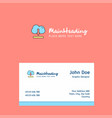 cloud downloading logo design with business card vector image vector image