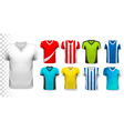collection various soccer jerseys the t-shirt vector image vector image