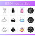 comfry loungewear icons set vector image vector image