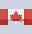 contour of toronto and the flag of canada vector image vector image