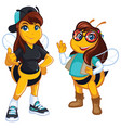 cool honey bees vector image