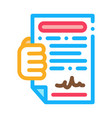 courier agreement icon outline vector image