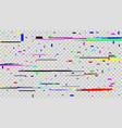 creative of tv screen glitch vector image