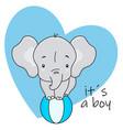cute elephant on top a ball vector image vector image