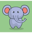 cute elephant stuffed icon vector image