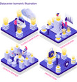 datacenter isometric concept vector image