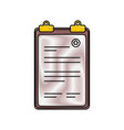 document paper holder vector image