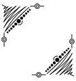 Doodle abstract handdrawn corners frame vector image vector image