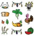 Doodle of thanksgiving various element vector image vector image