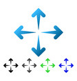 expand arrows flat gradient icon vector image vector image