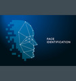 face recognition face identification technology vector image