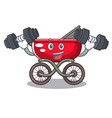 fitness cartoon baby stroller walk in the park