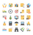 flat icons collection of logistic delivery vector image vector image