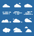 flat of various clouds vector image vector image