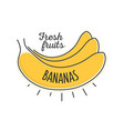 flat style minimal trendy banana bubble price tag vector image