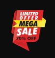 geometric limited offer mega sale banner vector image vector image