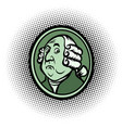 george washington american president profile vector image vector image