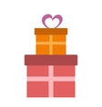 Gifts flat icon vector image vector image
