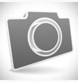 gray 3d photo camera icon vector image vector image
