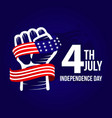 happy usa independent day template design vector image vector image