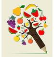 Healthy food concept pencil tree vector image
