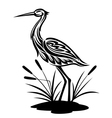 heron bird vector image vector image