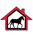 horse farm logo vector image vector image
