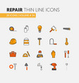 house repair renovation linear thin line icons vector image