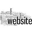 importance website design and development vector image vector image