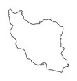 iran map of black contour curves of vector image