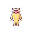 kigurumi yellow rgb color icon vector image