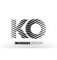 ko k o lines letter design with creative elegant vector image vector image