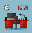 Modern business office workspace vector image vector image