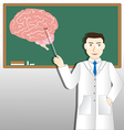 Neurology doctor and green board vector image