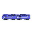 passenger express train railway carriage cartoon vector image