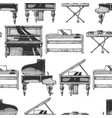 pattern with different pianos vector image vector image