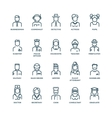 People avatars characters staff professions vector image vector image
