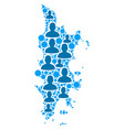 phuket map population demographics vector image vector image