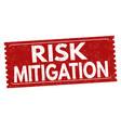 risk mitigation grunge rubber stamp vector image