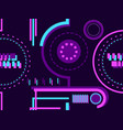 seamless pattern in cyberpunk style 80s retro vector image vector image